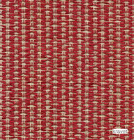 Kravet - 31383_19  | Upholstery Fabric - Red, White, Fiber blend, Small Scale, White