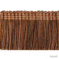 Kravet - Shimmer Brush - Copper  | Fringe, Curtain & Upholstery Trim - Brown, Red, Synthetic