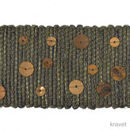 Ore' | Gimps & Braids, Curtain & Upholstery Trim - Green, Grey, Synthetic fibre
