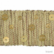Gold' | Gimps & Braids, Curtain & Upholstery Trim - Beige, Red, Red, Synthetic fibre