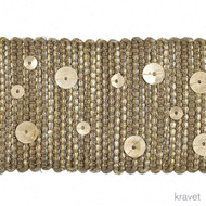 Kravet - Starry Night - Nickel  | Gimps & Braids, Curtain & Upholstery Trim - Grey, Synthetic