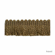 Kravet - Thicket - Bark  | Fringe, Curtain & Upholstery Trim - Brown, Natural fibre, Natural