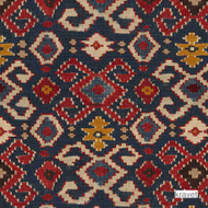' | Curtain & Upholstery fabric - Beige, Blue, Red, Kilim, Mediterranean, Natural fibre, Red, Natural, Print