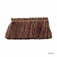 Kravet - Brushfringe - 439  | Fringe, Curtain & Upholstery Trim - Red, Synthetic