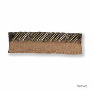 Kravet - Ribbon Flanged Cord - Mink  | Flange Cord, Trim - Brown, Synthetic