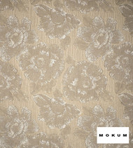Mokum Caledonia - Champagne  | Curtain & Upholstery fabric - Gold,  Yellow, White, Craftsman, Deco, Decorative, Eclectic, Floral, Garden, Natural fibre, Organic, Tropical, Domestic Use, White