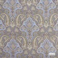 Kra_AGATI_315 'Spring' | Curtain & Upholstery fabric - Beige, Blue, Green, Fiber blend, Paisley, Print