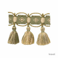Kra_T30402_34 'Tea' | Fringe, Curtain & Upholstery Trim - Gold - Yellow, Green, Natural fibre, Natural