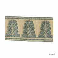 Kravet - T30375_35  | Gimps & Braids, Curtain & Upholstery Trim - Beige, Blue, Synthetic