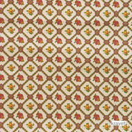' | Curtain & Upholstery fabric - Gold - Yellow, Green, Red, Floral, Garden, Natural fibre, Red, Natural, Print, Diamond - Harlequin