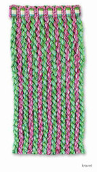' | Fringe, Curtain & Upholstery Trim - Green, Synthetic fibre, Pink - Purple