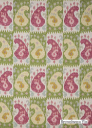 ' | Curtain & Upholstery fabric - Green, Red, Fiber blend, Mediterranean, Paisley, Red, Many-Coloured, Print