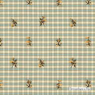 Aqua' | - Beige, Blue, Green, Farmhouse, Floral, Garden, Gingham, Natural fibre, Embroidery, Natural