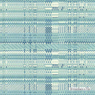 Brunschwig And Fils - New Watson - Sky  | Upholstery Fabric - Blue, Eclectic, Geometric, Midcentury, Natural Fibre, Stripe, Natural, Standard Width