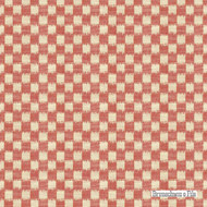 Brunschwig And Fils - Pinceau - Poppy  | Upholstery Fabric - Red, White, Check, Farmhouse, Natural fibre, Traditional, Natural, White