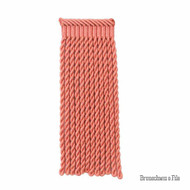 Brunschwig And Fils - Coeur Bullion-L - Coral  | Fringe, Curtain & Upholstery Trim - Synthetic fibre, Traditional