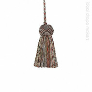 IDM - Classic Exquisite Key Tassel  1050-00 _8802 Red Sherbert  | Key Tassel, Curtain & Upholstery, Trim - Gold,  Yellow, Green, Red, Traditional, Domestic Use