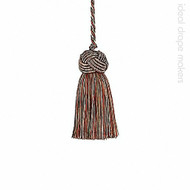 IDM - Classic Exquisite Key Tassel  1050-00 _7114 Turkish Delight  | Key Tassel, Curtain & Upholstery, Trim - Green, Terracotta, Tan, Taupe, Traditional, Domestic Use, Dry Clean