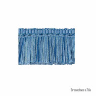 Brunschwig And Fils - Coeur Brush - Canton Blue  | Fringe, Curtain & Upholstery Trim - Blue, Synthetic fibre, Traditional
