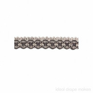 IDM - New York Gimp Braid 4277_9968 Manhattan  | Gimps & Braids, Curtain & Upholstery Trim - Grey, Silver, Traditional, Domestic Use