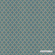 Brunschwig And Fils - Amoy Trellis - Slate Blue  | Upholstery Fabric - Blue, Fiber blend, Traditional, Diamond - Harlequin