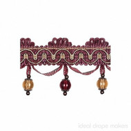 IDM - New York Beaded Fringe  4356_9932  Broadway  | Fringe, Curtain & Upholstery Trim - Beige, Burgundy, Gold - Yellow, Traditional, Domestic Use