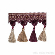 IDM - New York Tassel Fringe  4396_9932  Broadway  | Fringe, Curtain & Upholstery Trim - Beige, Burgundy, Gold,  Yellow, Traditional, Domestic Use, Dry Clean