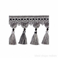 IDM_4396_9985 'Avenue' | Fringe, Curtain & Upholstery Trim - Black, Traditional, Black - Charcoal, Domestic Use