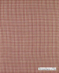 Brunschwig And Fils - Provence Check - Bordeaux  | Upholstery Fabric - Red, Farmhouse, Gingham, Natural fibre, Traditional, Natural