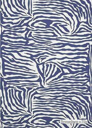 Brunschwig And Fils - Ashanti On Paper - Blueberry  | Wallpaper, Wallcovering - Blue, Contemporary, Midcentury, Zebra, Print