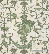 Brunschwig And Fils - Kininvie - Leaf On White  | Wallpaper, Wallcovering - Floral, Garden, Print