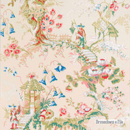 Brunschwig And Fils - Chinese Landscape - Ecru  | Wallpaper, Wallcovering - Beige, Asian, Print, Chinoiserie - Chinoise