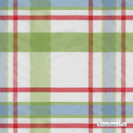 Brunschwig And Fils - Beaufort Taffeta Plaid - Grass  | Upholstery Fabric - White, Synthetic, Traditional, White, Standard Width