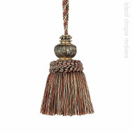 IDM - Exquisite Key Tassel 3463-00 _8802 Red Sherbert  | Key Tassel, Curtain & Upholstery, Trim - Gold,  Yellow, Green, Red, Traditional, Domestic Use