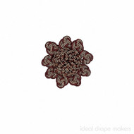 IDM - Exquisite Rosette  2687_7112  Cherrywood  | Rosette, Curtain & Upholstery, Trim - Brown, Burgundy, Gold,  Yellow, Traditional, Domestic Use, Dry Clean