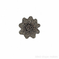 IDM - Exquisite Rosette  2687_8819  Chocolate Delight  | Rosette, Curtain & Upholstery, Trim - Brown, Traditional, Domestic Use, Dry Clean
