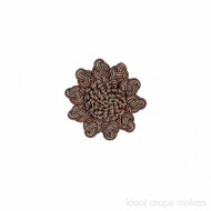 IDM - Exquisite Rosette  2687_8822  Ginger Megs  | Rosette, Curtain & Upholstery, Trim - Gold,  Yellow, Terracotta, Tan, Taupe, Traditional, Domestic Use, Dry Clean