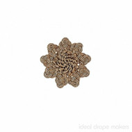IDM - Exquisite Rosette  2687_7633  Gold Storm  | Rosette, Curtain & Upholstery, Trim - Gold,  Yellow, Tan, Taupe, Traditional, Domestic Use, Dry Clean