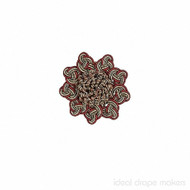 IDM - Exquisite Rosette  2687_8802  Red Sherbert  | Rosette, Curtain & Upholstery, Trim - Gold,  Yellow, Green, Red, Traditional, Domestic Use, Dry Clean