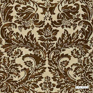Chocolate' | Curtain & Upholstery fabric - Beige, Brown, Damask, Natural fibre, Traditional, Natural, Print