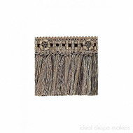 IDM - Exquisite Cut Fringe with Rosette  1882_8819  Chocolate Delight  | Fringe, Curtain & Upholstery Trim - Brown, Traditional, Domestic Use, Dry Clean