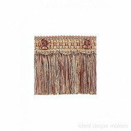 IDM - Exquisite Cut Fringe with Rosette  1882_8822  Ginger Megs  | Fringe, Curtain & Upholstery Trim - Gold,  Yellow, Terracotta, Tan, Taupe, Traditional, Domestic Use, Dry Clean