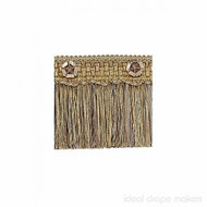IDM - Exquisite Cut Fringe with Rosette  1882_7633  Gold Storm  | Fringe, Curtain & Upholstery Trim - Gold,  Yellow, Tan, Taupe, Traditional, Domestic Use, Dry Clean