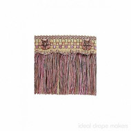 IDM - Exquisite Cut Fringe with Rosette 1882_8894 Harlequin    Fringe, Curtain & Upholstery Trim - Gold,  Yellow, Green, Pink, Purple, Traditional, Domestic Use