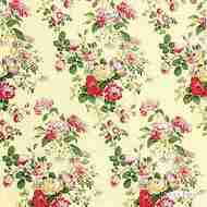 Lee Jofa - Mayfield Handbl - Maize  | Curtain & Upholstery fabric - Gold,  Yellow, Floral, Garden, Natural Fibre, Traditional, Natural, Print, Standard Width, Rococo