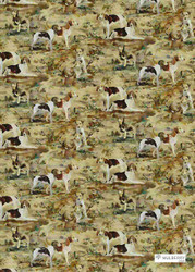 Multi' | Curtain & Upholstery fabric - Beige, Brown, Natural fibre, Toile de Jouy, Toile, Natural, Print