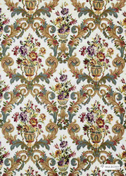 Muh_FD272_H48 '' | Curtain & Upholstery fabric - Fiber blend, Many-Coloured, Embroidery
