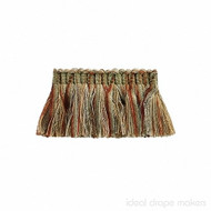 IDM - The Cotswolds Brush Fringe  BI500 _8 Patina  | Fringe, Curtain & Upholstery Trim - Brown, Gold,  Yellow, Green, Tan, Taupe, Traditional, Domestic Use, Dry Clean