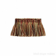 IDM - The Cotswolds Brush Fringe  BI500 _10 Persian  | Fringe, Curtain & Upholstery Trim - Beige, Gold - Yellow, Green, Red, Red, Traditional, Domestic Use