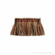 IDM - The Cotswolds Brush Fringe  BI500 _10 Persian  | Fringe, Curtain & Upholstery Trim - Beige, Gold,  Yellow, Green, Red, Traditional, Domestic Use, Dry Clean